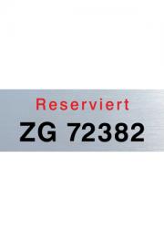 Parkplatzschild Aluminium 330x100x1,5 mm