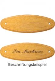Holzformschild 125x40 mm Eiche hell