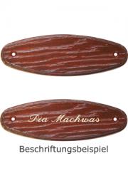 Holzformschild 125x40 mm Mahagoni