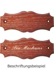 Holzformschild 125x50 mm Mahagoni