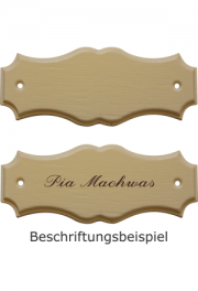 Holzformschild 125x50 mm weiss