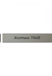 Briefkastenschild Alumhaus, 110x20 mm