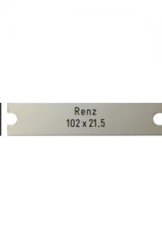 Briefkastenschild Renz, 102x21.4x1 mm