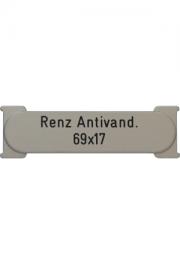 Briefkastenschild Renz, Anti-Vandalism..