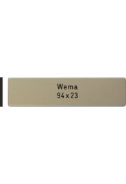 Briefkastenschild WEMA-Box, 94x23x2 mm