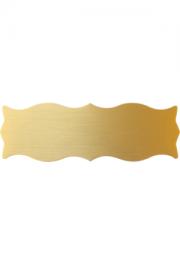 Messingformschild 125x40x0.6 mm
