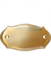 Messingformschild poliert 83x48 mm