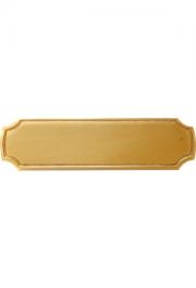 Messingformschild 100x28x5 mm