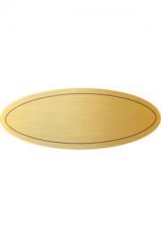 Messingformschild 115x45x0.6 mm